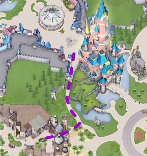 Disneyland Paris Tipps Schleichweg Schloss