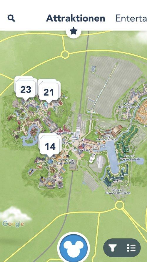 Karte Disneyland Paris Attraktionen.Die Disneyland Paris App Vorgestellt Von Magical Dream De