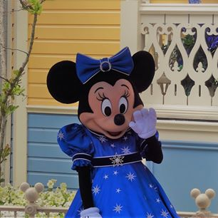 Minnie Mouse in Disneyland Paris