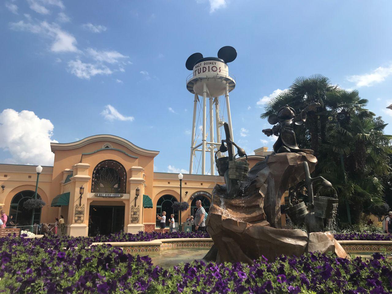 Der Eingangsbereich der Walt Disney Studios
