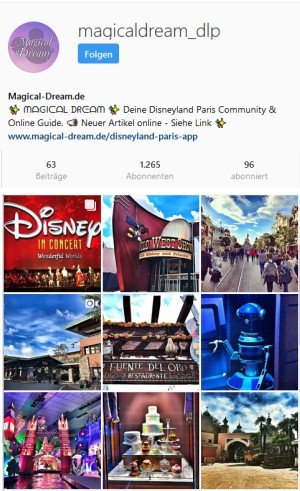 Magical-Dream - Deine Disneyland Paris Community auch auf Instagram