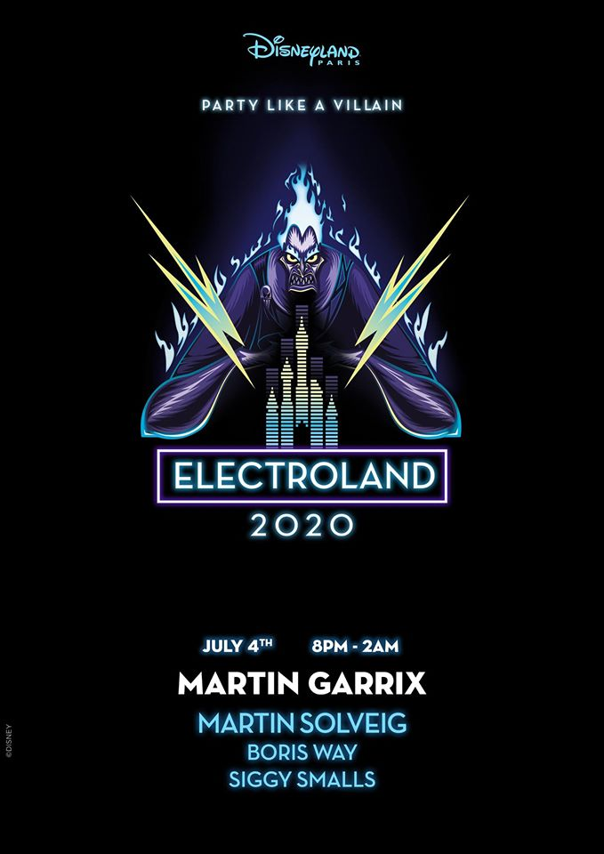 Electroland 2020 Lineup im Disneyland Paris