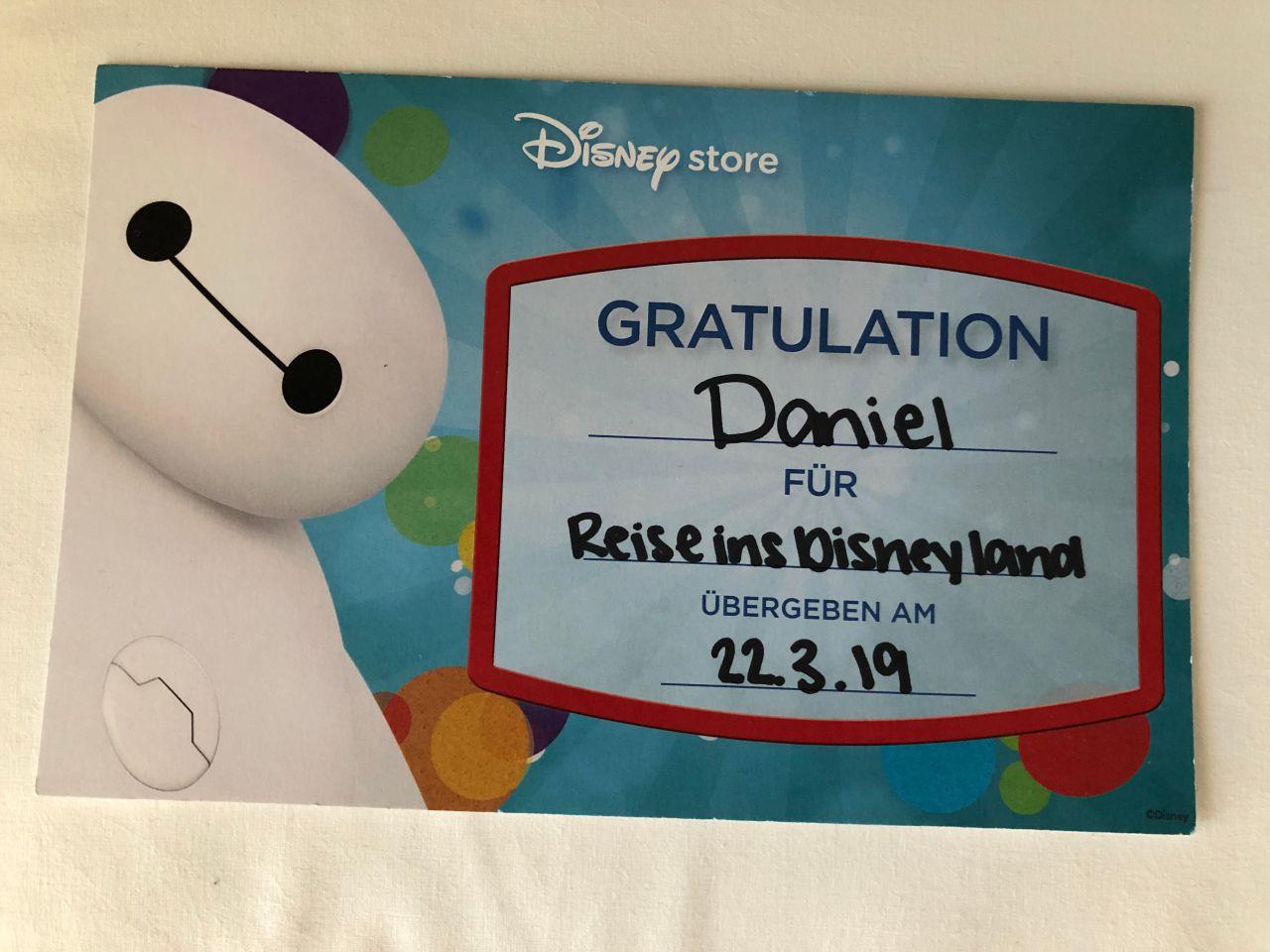 Disney Store Überraschung Disneyland Paris