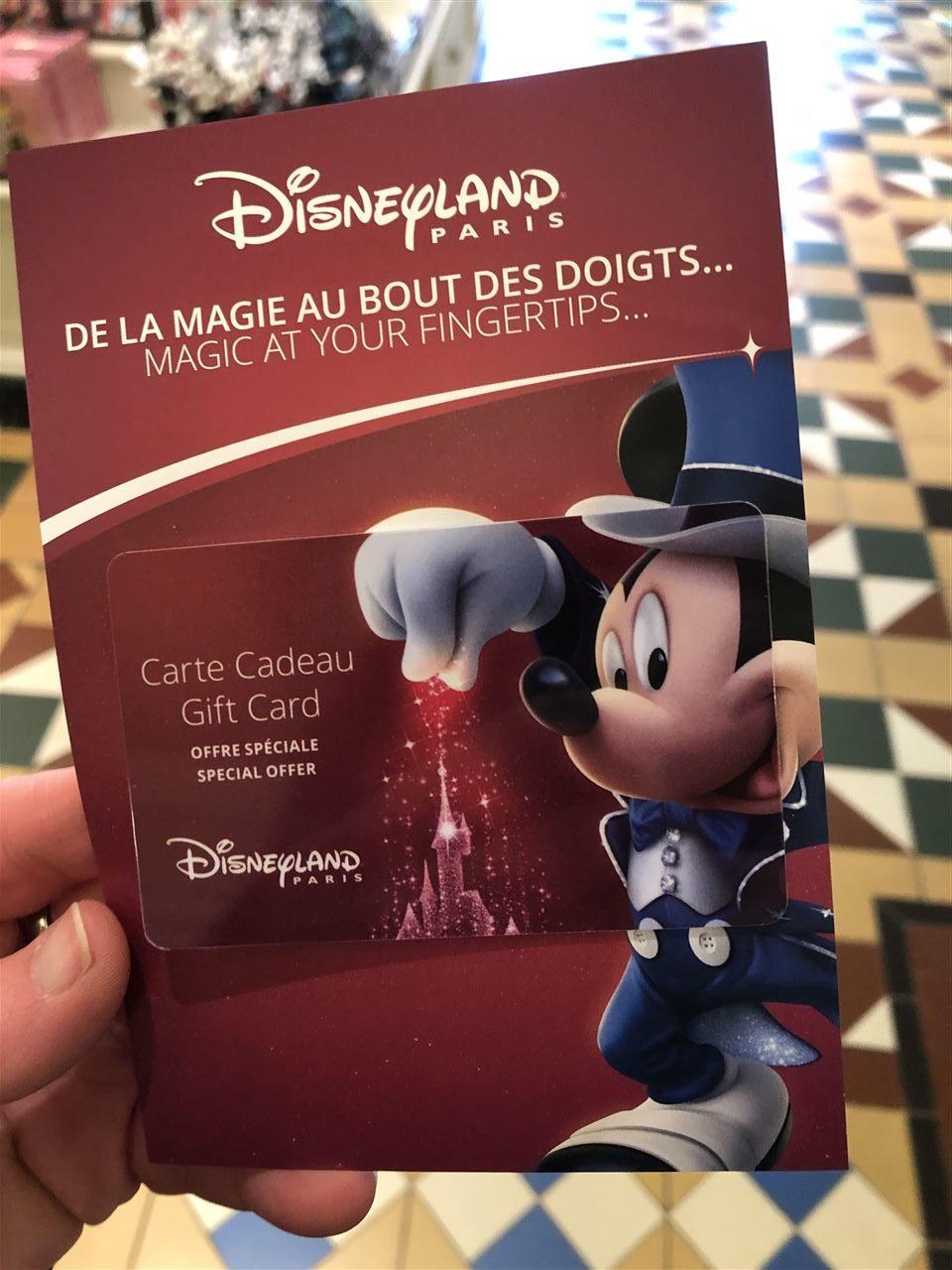 Disneyland Paris Gutscheinkarte