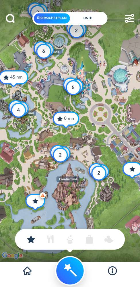 Disneyland Paris App Karte Zoom