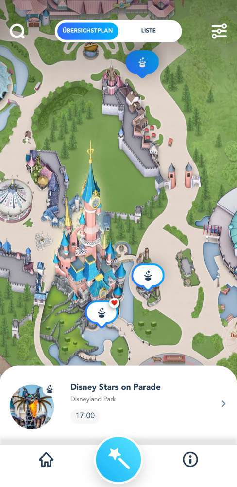 Disneyland Paris App Shows Karte